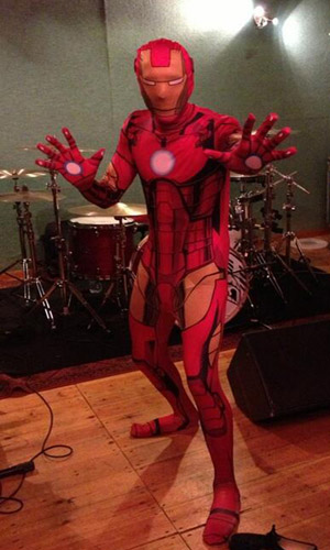 McFly's Tom Fletcher dresses up as Iron Man