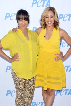 'Let Veganism Grow on You' PETA campaign launch, Los Angeles, America - 10 Jun 2013 Tia Mowry-Hardrict and Tamera Mowry-Housley