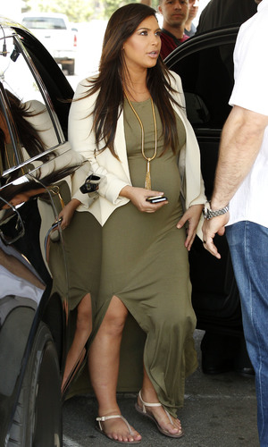 A heavily pregnant Kim Kardashian out and about in Sherman Oaks - 12 June 2013