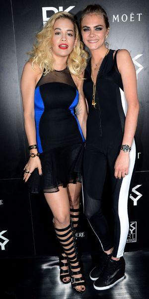 Rita Ora and Cara Delevingne DKNY Artworks Launch, London, Britain - 12 Jun 2013