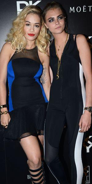 Rita Ora, Cara Delevingne DKNY Artworks Launch, London, Britain - 12 Jun 2013