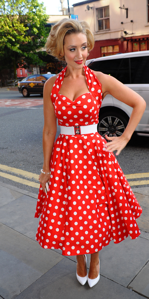 Catherine Tyldesley arrives at 'American Diner' themed ball, hosted by Simon Gregson and wife Emma, held at Palace Hotel in Manchester, June 15 2013