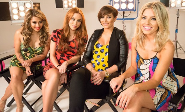 The Saturdays pose for Chasing The Saturdays on 4Music - 12 June 2013