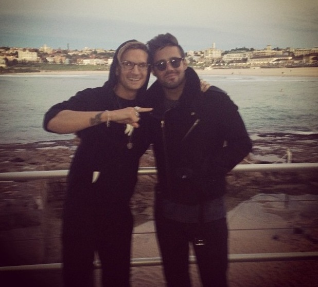 Spencer Matthews and Oliver Proudlock on Bondi Beach Australia - 14 June 2013