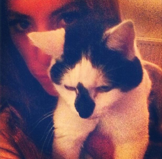 Gabriella Ellis with her cat Snowy - 7 June 2013