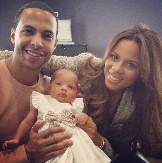 Marvin and Rochelle Humes share first proper photo of daughter Alaia-Mai - 13 may 2013