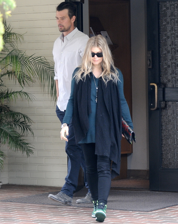 Fergie and Josh Duhamel leaving the church after going to an early Sunday mass - 9 June 2013