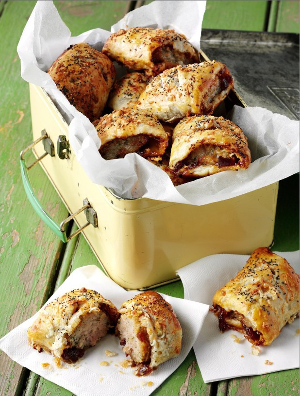 Caramelised Red Onion Chutney & Goat's Cheese Sausage Rolls ...
