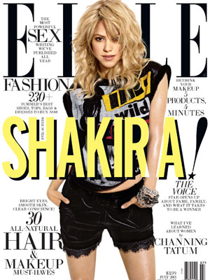 Shakira graces the front cover of ELLE US - July 2013 issue