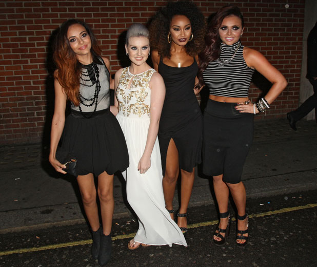 Jesy Nelson celebrates her birthday with Leigh-Anne Pinnock, Jade Thirlwall and Perrie Edwards, London, 12 June 2013