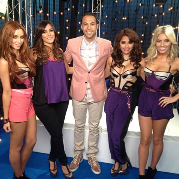 JLS' Marvin Humes poses with The Saturdays at Summertime Ball,  9 June 2013