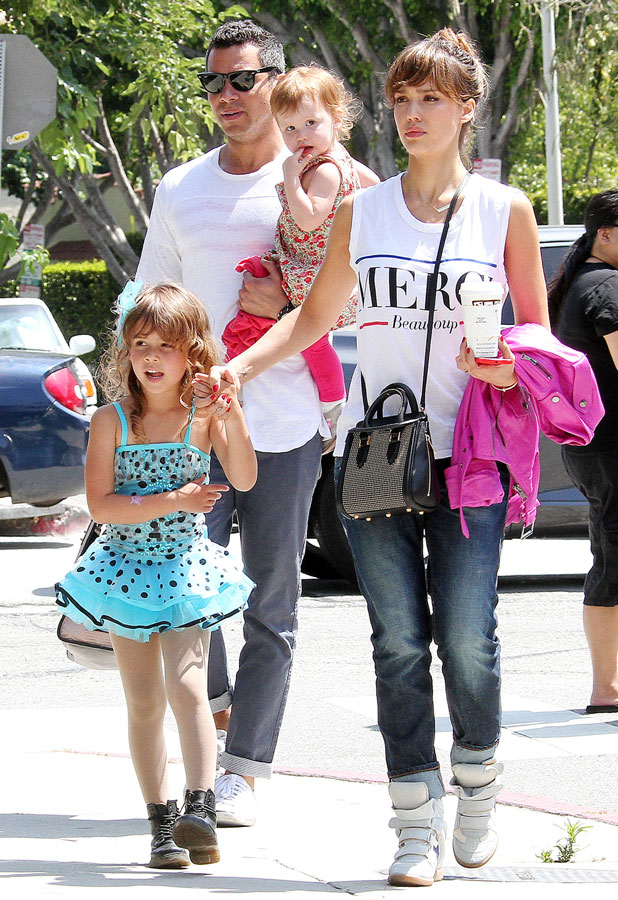 Jesscia Alba, Cash Warren, Honor-Marie & Haven out and about in California