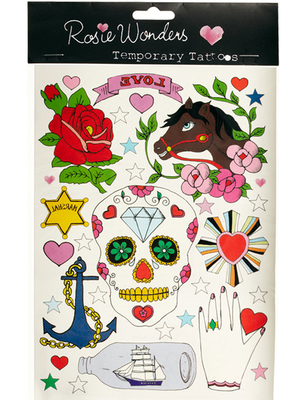 Rosie Wonders Mexican Skull Temporary Tattoo, asos.com