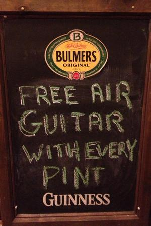 Free air guitar with every pint!