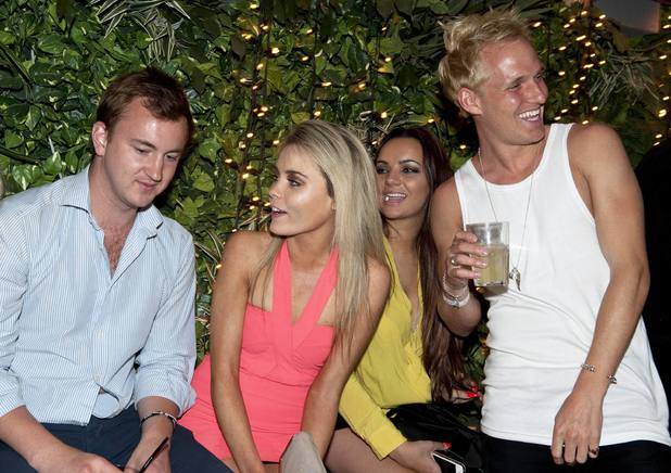Made in Chelsea stars Jamie Laing and Francis Boulle party at Everleigh Garden, Dublin - 20 June 2013