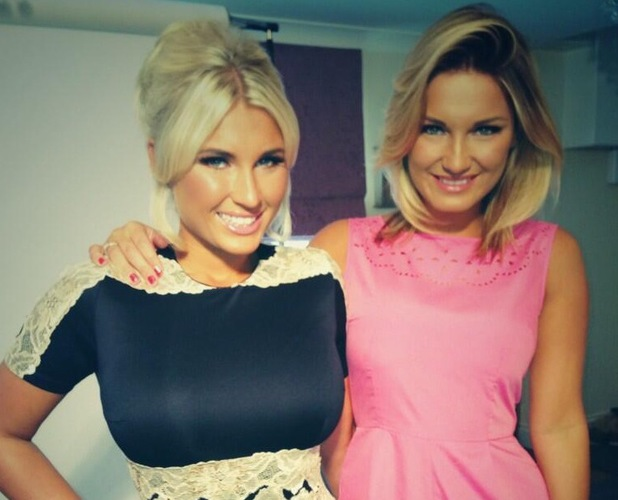 Sam Faiers and Billie Faiers models Minnies Boutique clothing on 20 June 2013