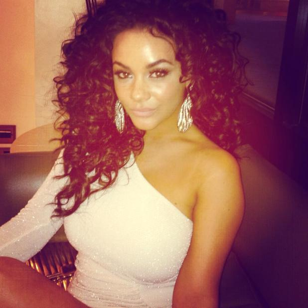 Chelsee Healey wearing a Jessica Wright dress to Hummingbird premiere - 17 June 2013