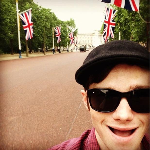 Glee's Chris Colfer visits Buckingham Palace - 21 June 2013