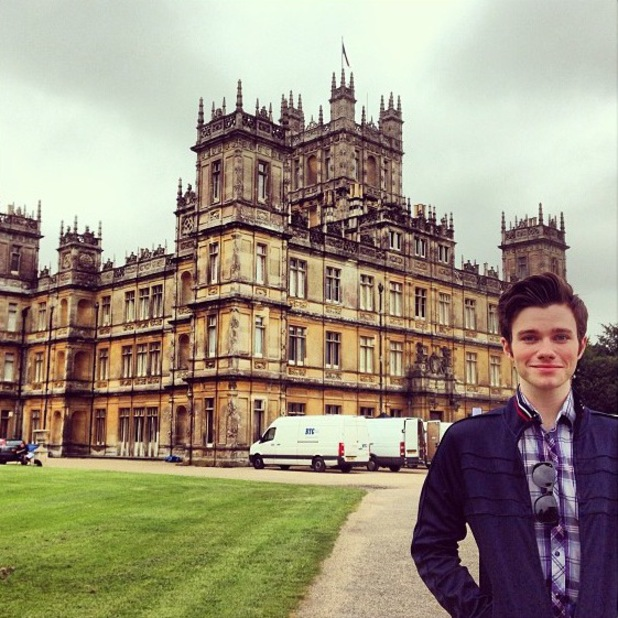 Glee's Chris Colfer visits Downton Abbey - 21 June 2013
