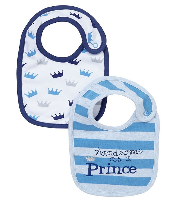 Royal baby bibs Mothercare