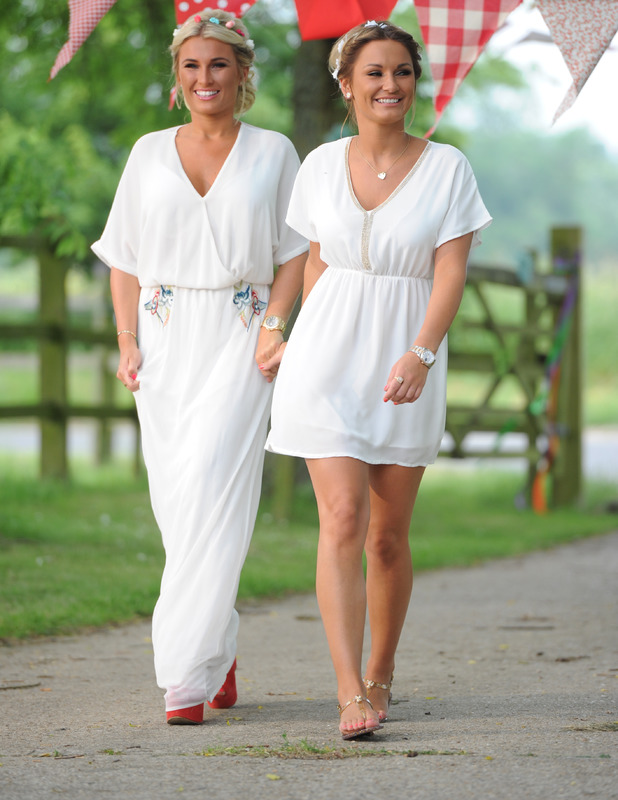 Sam Faiers and Billie Faiers on the set of TOWIE, June 21 2013
