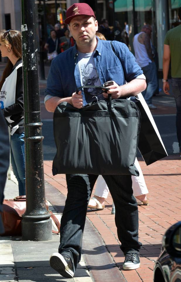 Former Westlife singer Mark Feehily spotted leaving Brown Thomas with shopping bags and getting into a waiting car, Dublin, Ireland - 19 June 2013