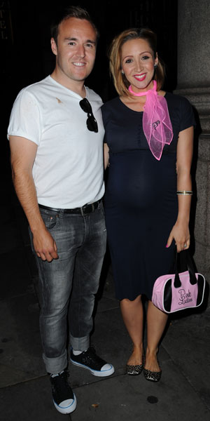 Lucy-Jo Hudson and Alan Halsall, American Diner' themed ball, hosted by Simon Gregson and wife Emma, held at Palace Hotel, Manchester, 15 June 2013