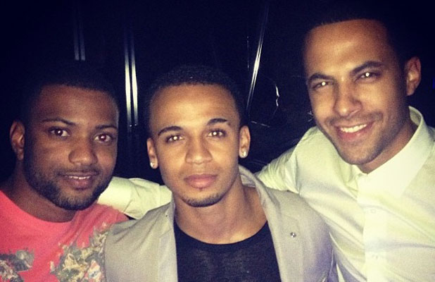 Aston Merrygold and Marvin Humes in London, 18 June 2013