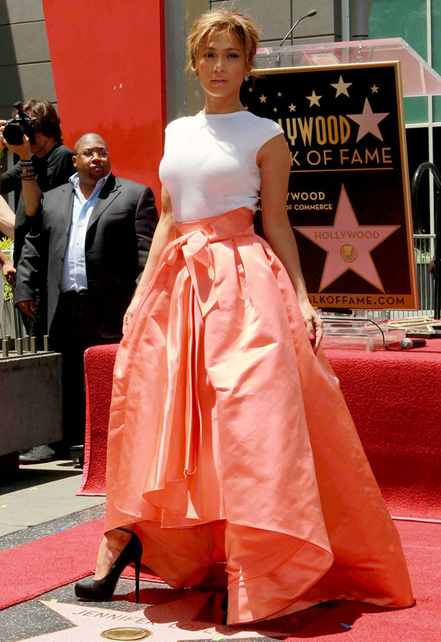Jennifer Lopez is honoured with the 2,500th star on the Hollywood Walk of Fame, 20 June 2013