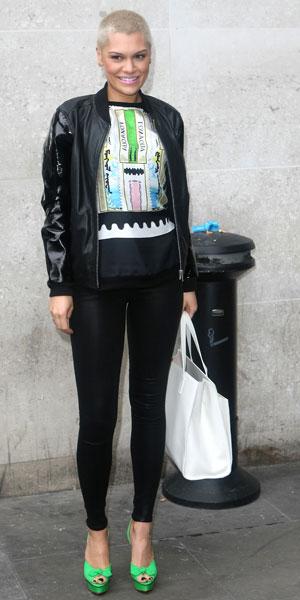 Jessie J outside Radio 1 on 21 June 2013
