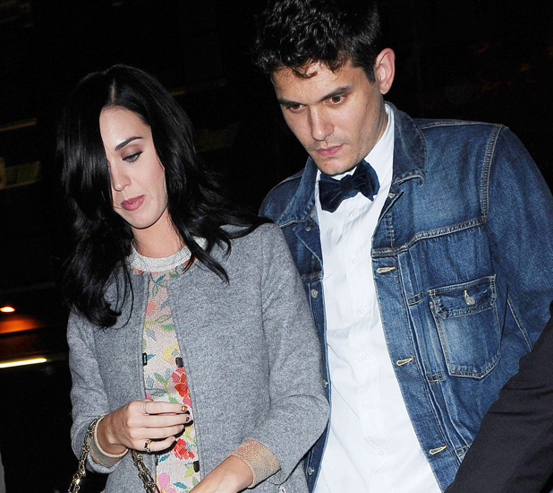 Katy Perry and John Mayer on their Way to The Box Club for John's Birthday Celebration. New York, America - 16 Oct 2012