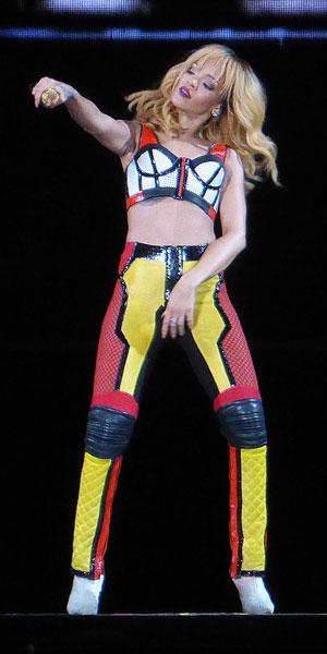 Rihanna in catsuit at Twickenham concert on 16 June 2013
