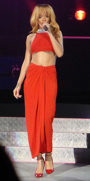Rihanna at Twickenham stadium on 15 June 2013