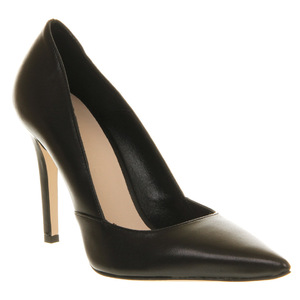 Black high heeled court shoes from Office