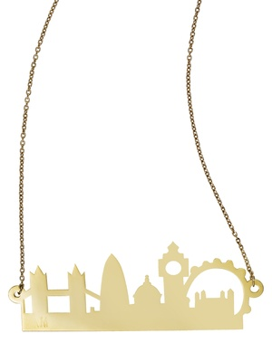 gold plated London skyline necklace by Mona Mara
