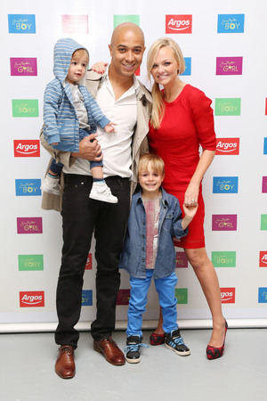 Emma Bunton, Jade Jones and sons Beau and Tate Launch of Emma Bunton's Autumn/Winter childrenswear range for Argos - 19.07.12