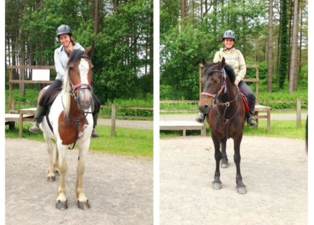 Imogen Thomas goes horse riding with her sister - 27 June 2013
