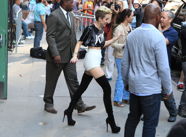 26 June 2013 - Miley Cyrus at ABC's 'Good Morning America' in Times Square
