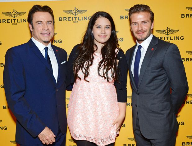 Breitling flagship store launch, Bond Street, London, Britain - 27 Jun 2013 - John Travolta, daughter Ella Bleu Travolta and David Beckham