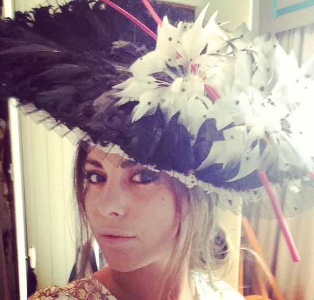 Louise Thompson in hat for Royal Ascot - 25 June 2013