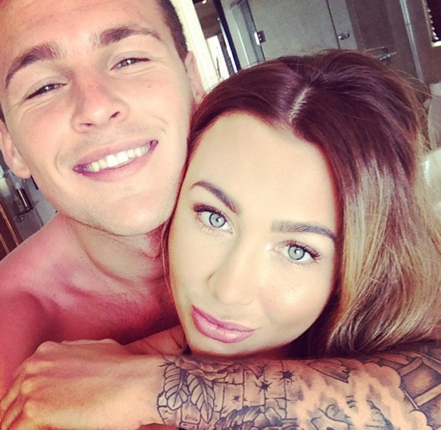 Lauren Goodger and Jake McLean on holiday - June 2013