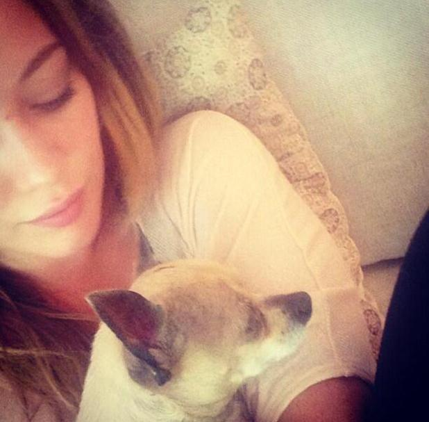 Hilary Duff and late dog Lola - June 26 2013