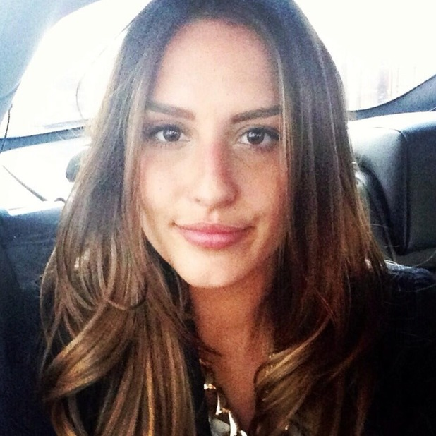 Lucy Watson ombre hair by Mikey Kardashian