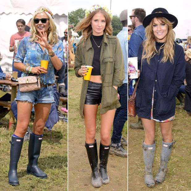 Millie Mackintosh, Katherine Jenkins, Caroline Flack Glastonbury Festival, Somerset, Britain - 28 Jun 2013