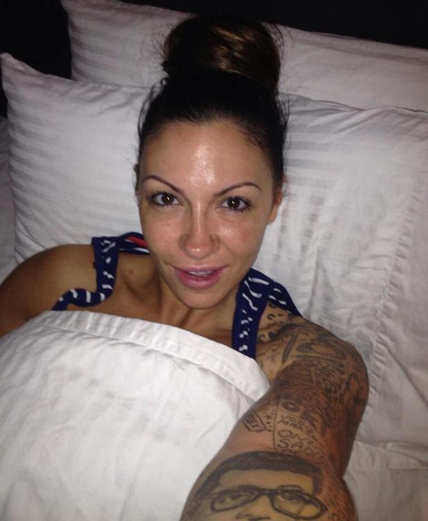 Jodie Marsh pictured in bed without make-up on - 25 June 2013