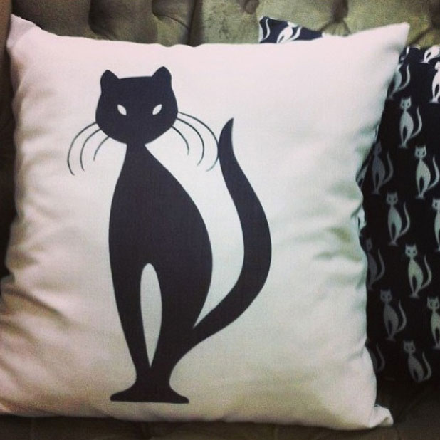 Fearne Cotton's cat pillow from Very.co.uk range, June 2013