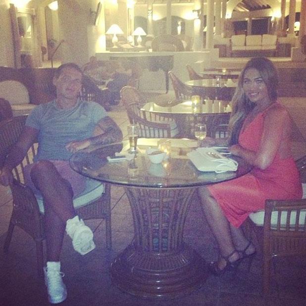 Lauren Goodger celebrates Jake McLean's birthday in the Caribbean, June 2013