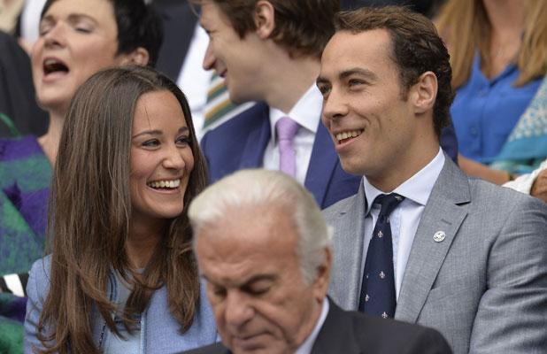 Pippa Middleton and James Middleton at Wimbledon, 24 June 2013