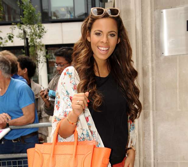 Celebrities at the BBC Radio 2 studios The Saturdays Rochelle Humes / Rochelle Wiseman Credit :WENN.com Special Instructions : Date Created :06/27/2013