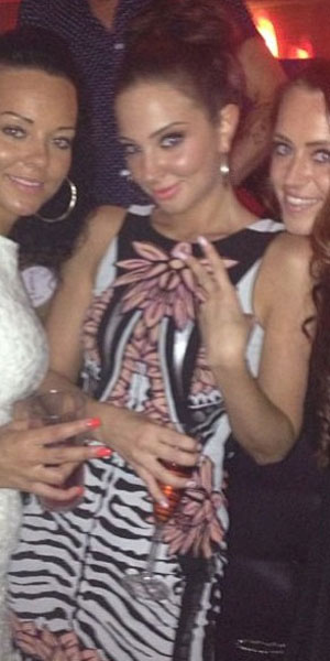 Tulisa on a night out in Essex, 22 June 2013
